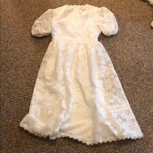 rachel parcell Dresses - Rachel Parcell White Lace Midi Dress